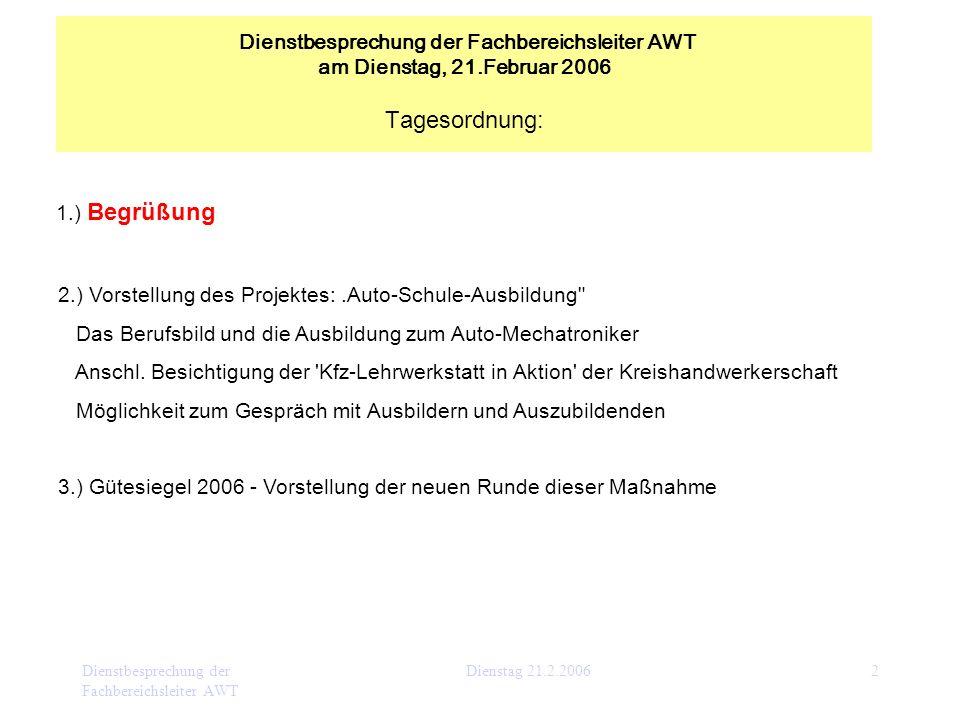 2.) Vorstellung des Projektes: .Auto-Schule-Ausbildung