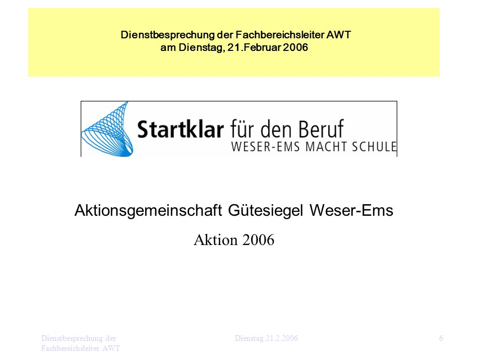 Aktionsgemeinschaft Gütesiegel Weser-Ems