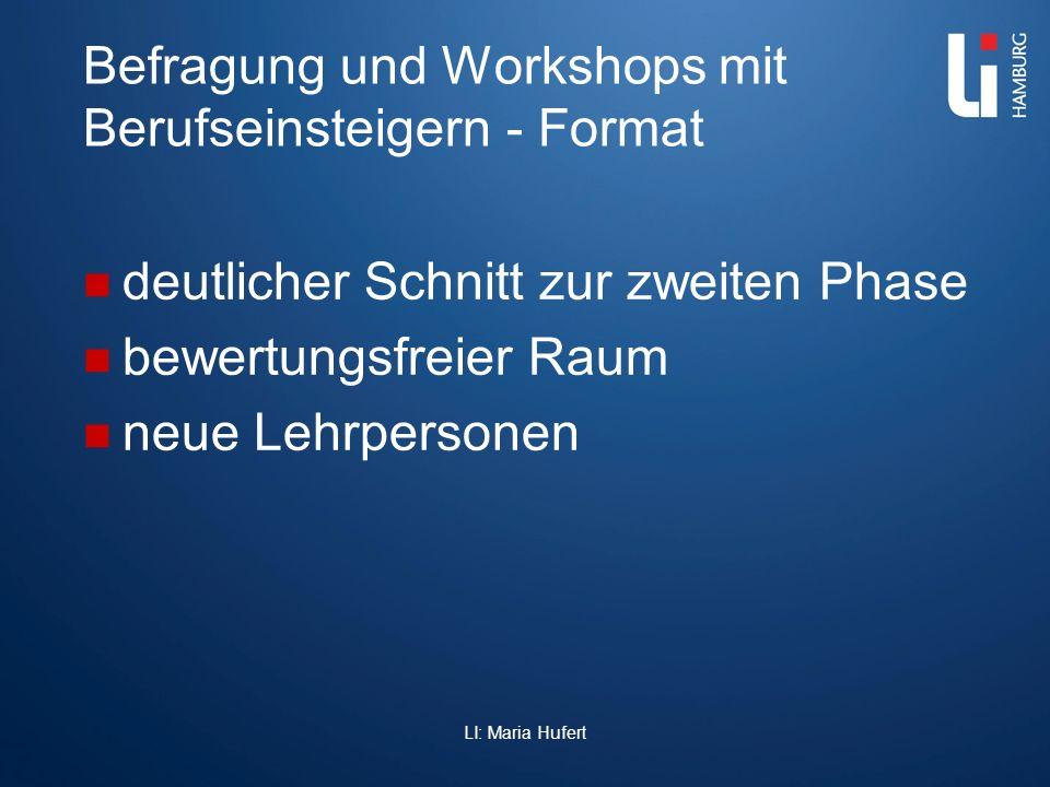 Befragung und Workshops mit Berufseinsteigern - Format