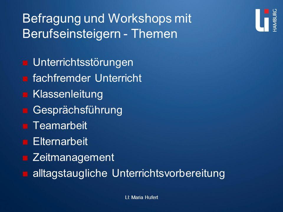 Befragung und Workshops mit Berufseinsteigern - Themen