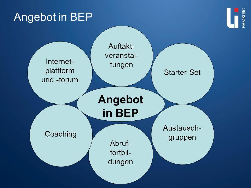 Angebot in BEP Angebot in BEP Auftakt-veranstal-tungen