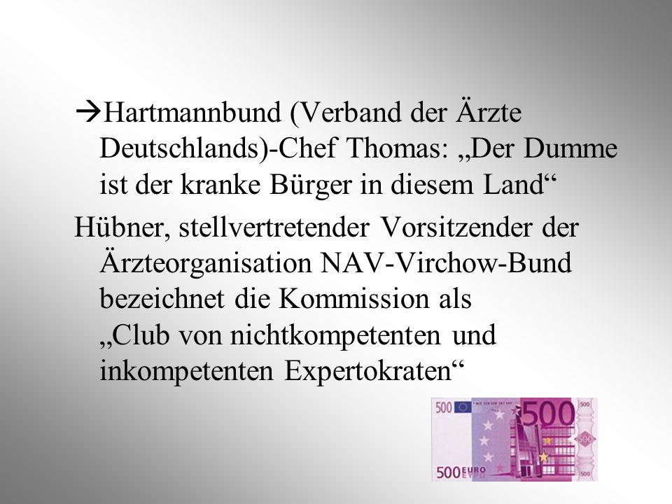 """Hartmannbund (Verband der Ärzte Deutschlands)-Chef Thomas: """"Der Dumme ist der kranke Bürger in diesem Land"""