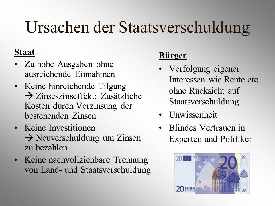 Ursachen der Staatsverschuldung