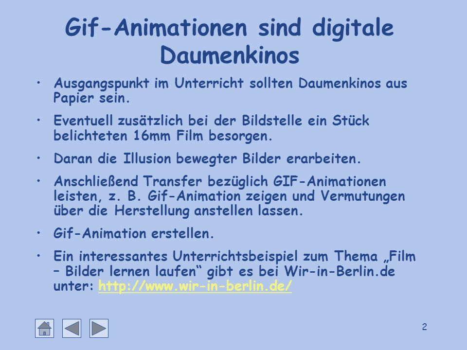Gif-Animationen sind digitale Daumenkinos