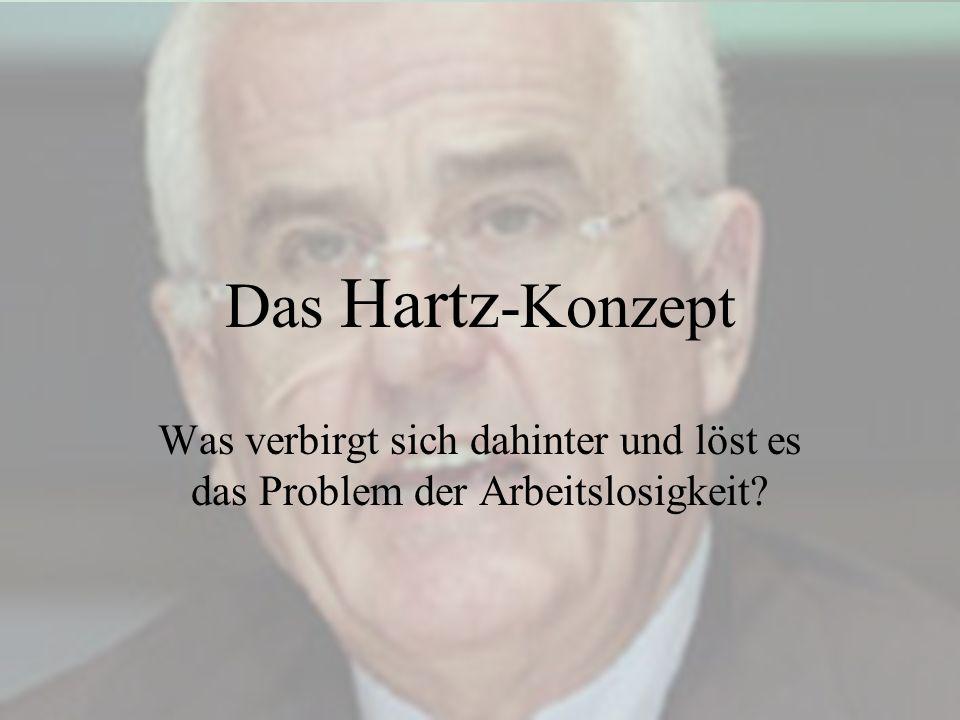 Das Hartz-Konzept Was verbirgt sich dahinter und löst es das Problem der Arbeitslosigkeit