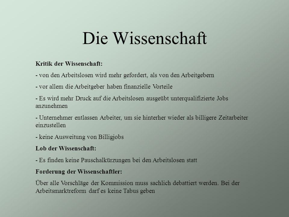 Die Wissenschaft Kritik der Wissenschaft: