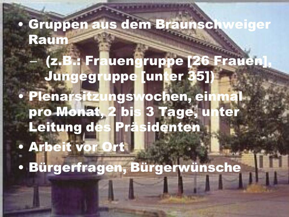 Gruppen aus dem Braunschweiger Raum