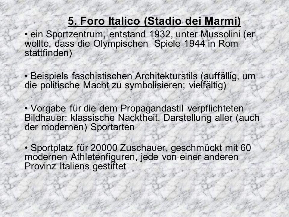 5. Foro Italico (Stadio dei Marmi)