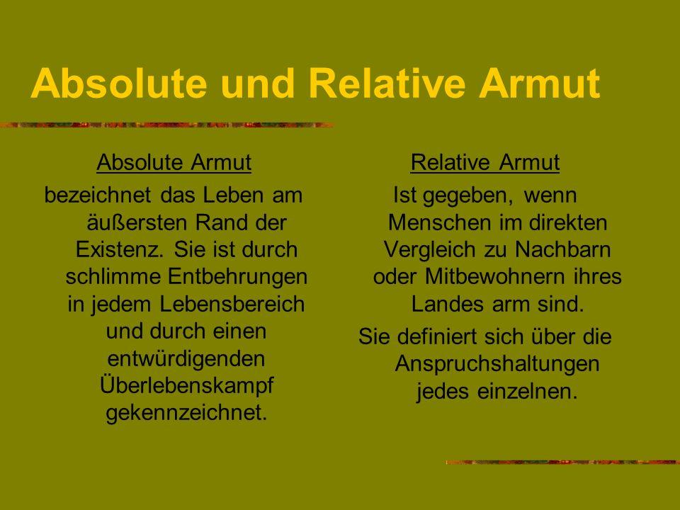 Absolute und Relative Armut