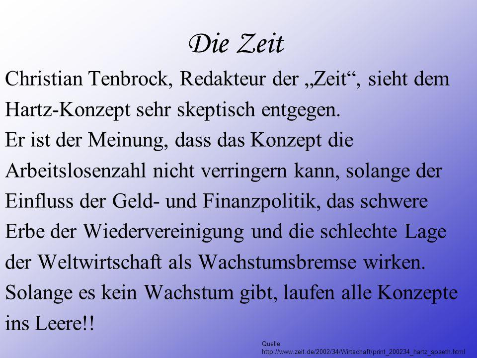 """Die Zeit Christian Tenbrock, Redakteur der """"Zeit , sieht dem"""