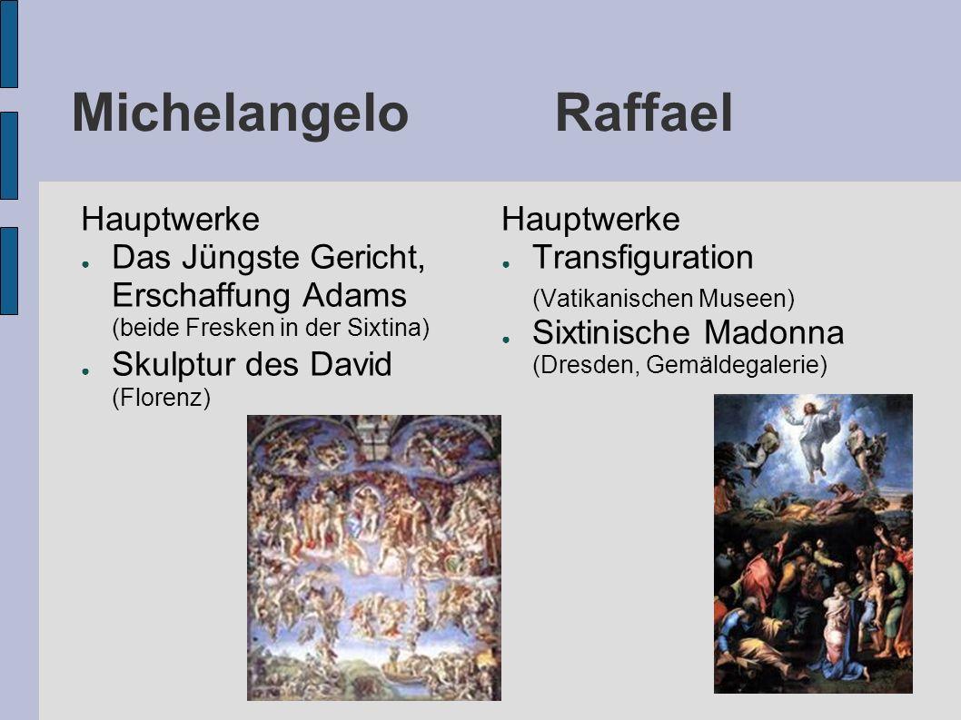 Michelangelo Raffael Hauptwerke