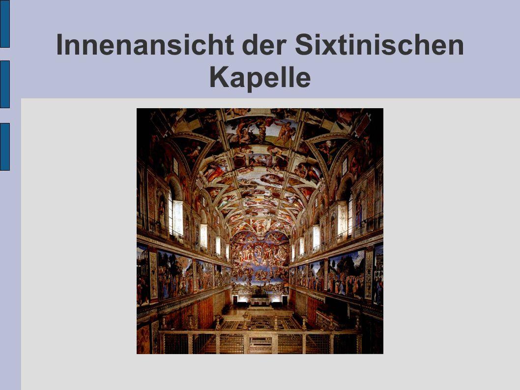 Innenansicht der Sixtinischen Kapelle
