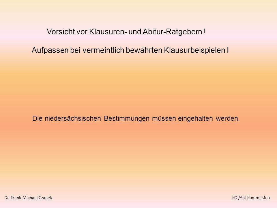 Vorsicht vor Klausuren- und Abitur-Ratgebern !