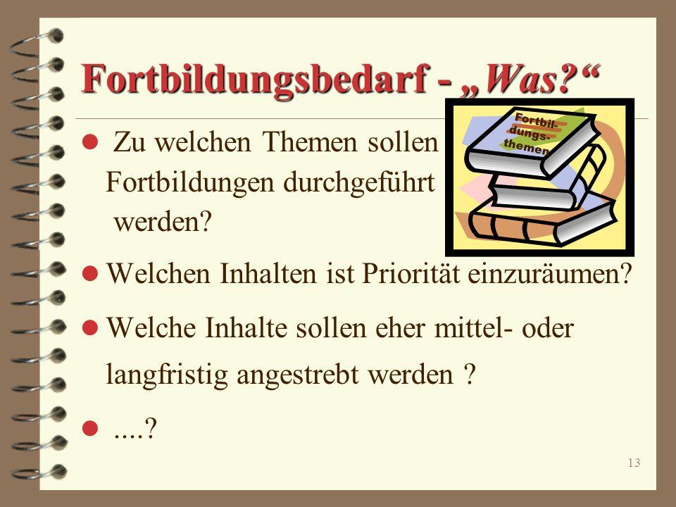 "Fortbildungsbedarf - ""Was"