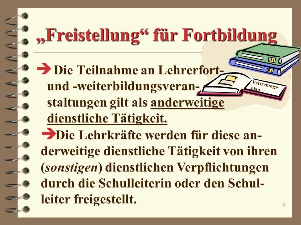 """""""Freistellung für Fortbildung"""
