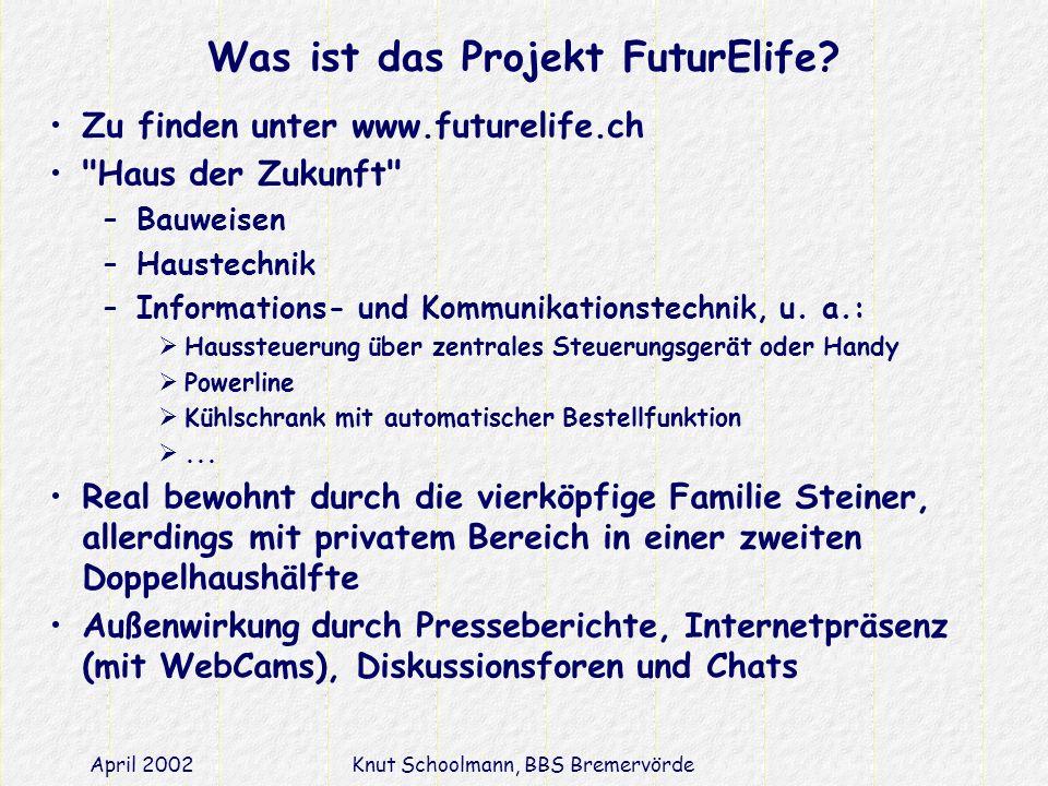 Was ist das Projekt FuturElife