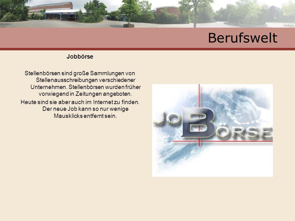 Berufswelt Jobbörse.