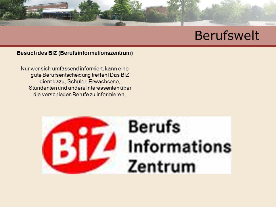 Besuch des BIZ (Berufsinformationszentrum)