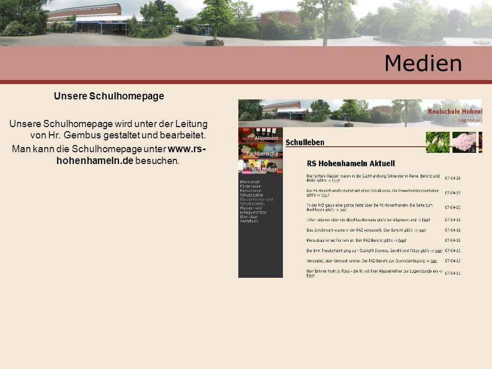 Man kann die Schulhomepage unter www.rs-hohenhameln.de besuchen.