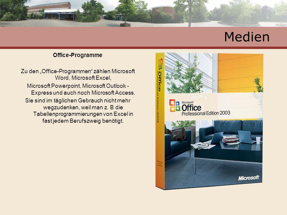 """Zu den """"Office-Programmen zählen Microsoft Word, Microsoft Excel,"""