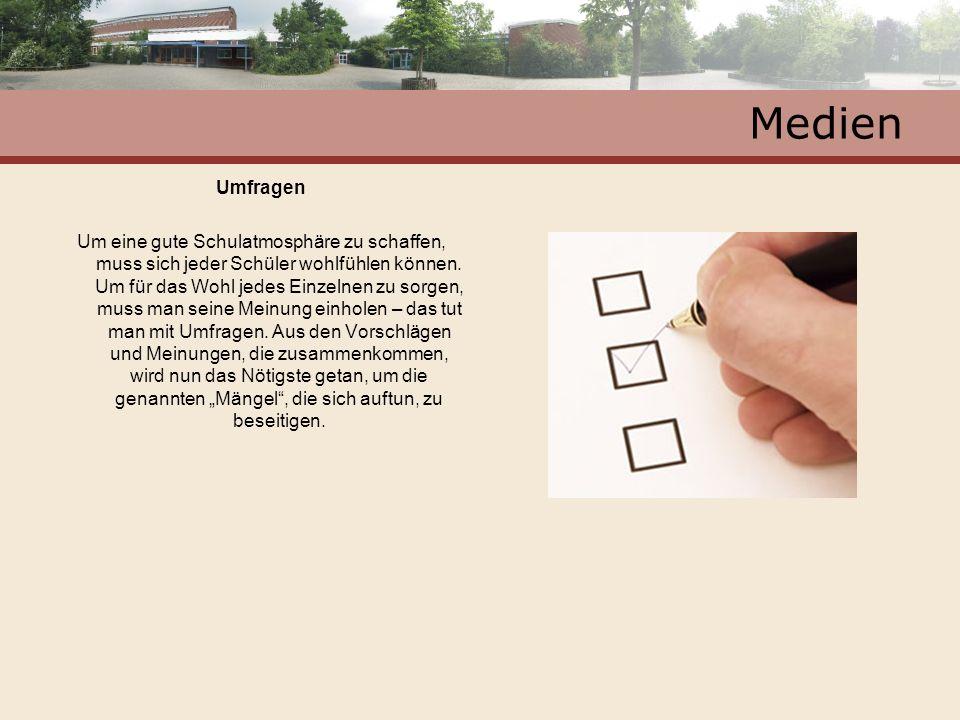 Medien Umfragen.