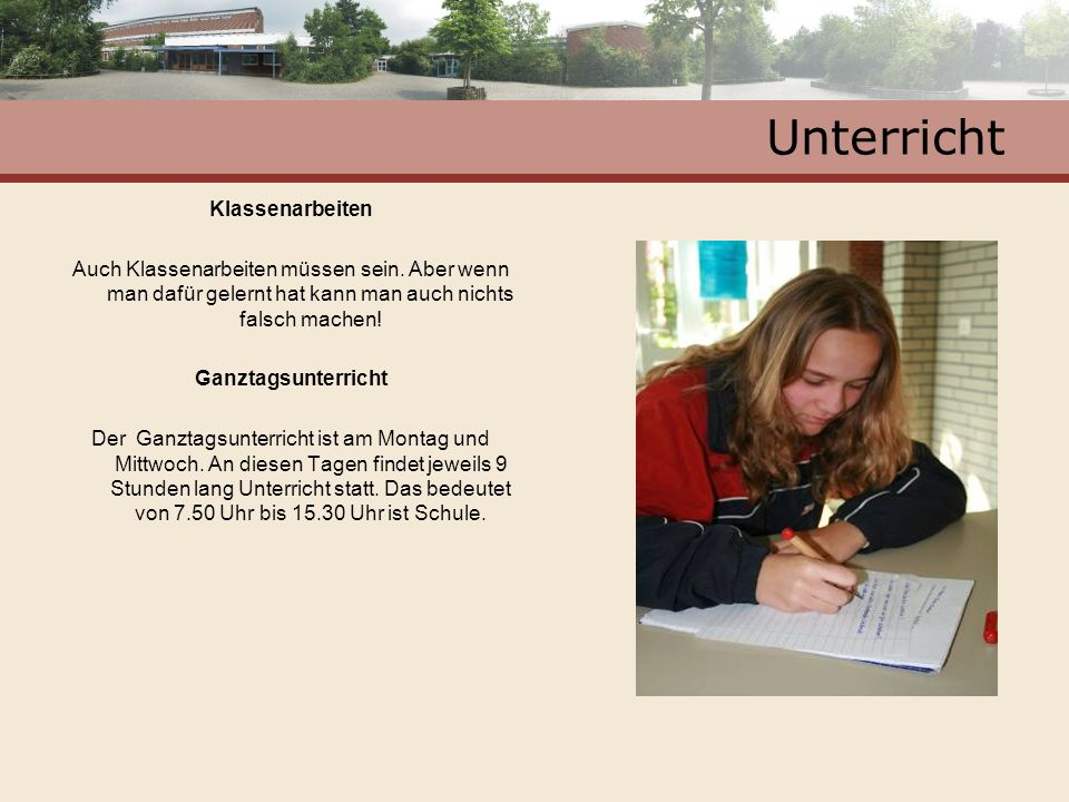 Unterricht Klassenarbeiten