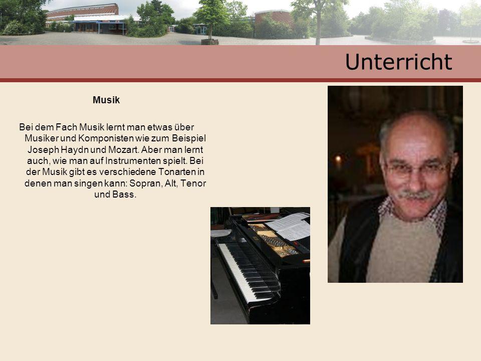Unterricht Musik.