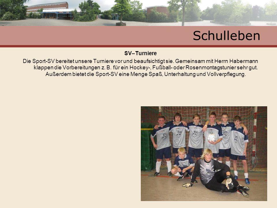 Schulleben SV–Turniere