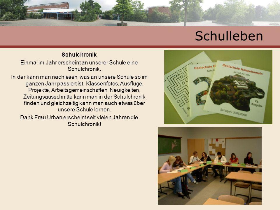 Schulleben Schulchronik