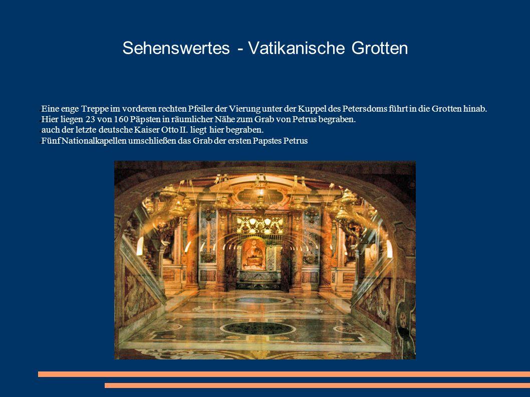 Sehenswertes - Vatikanische Grotten