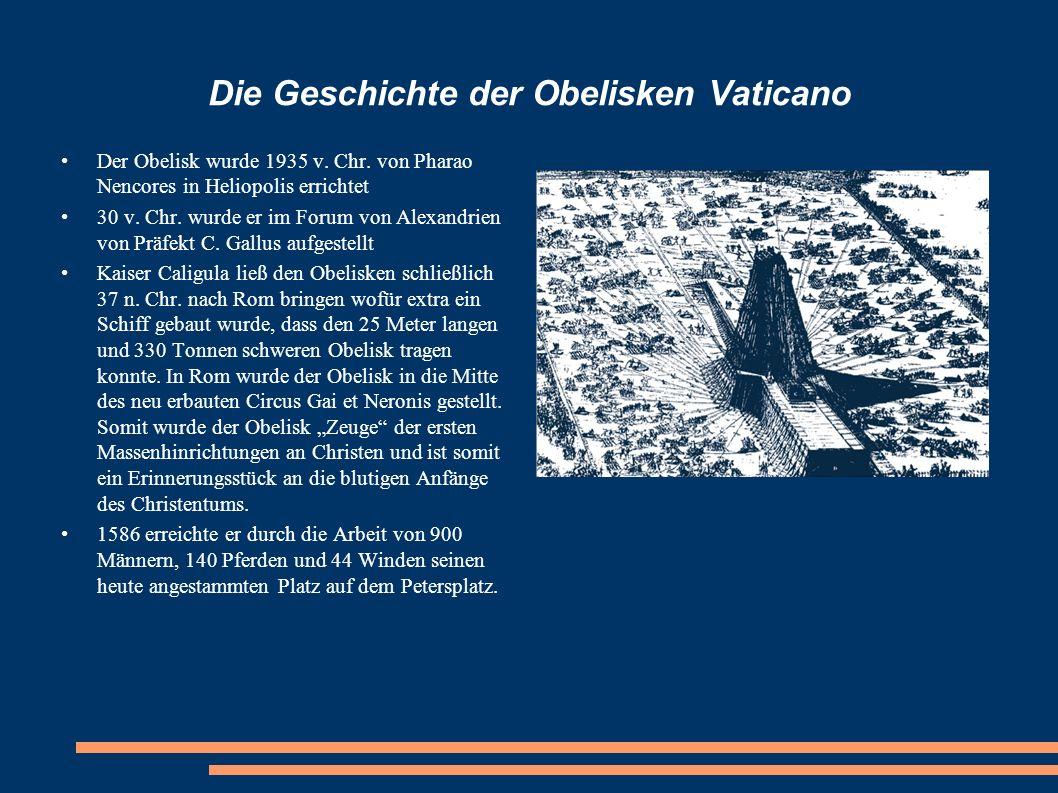 Die Geschichte der Obelisken Vaticano