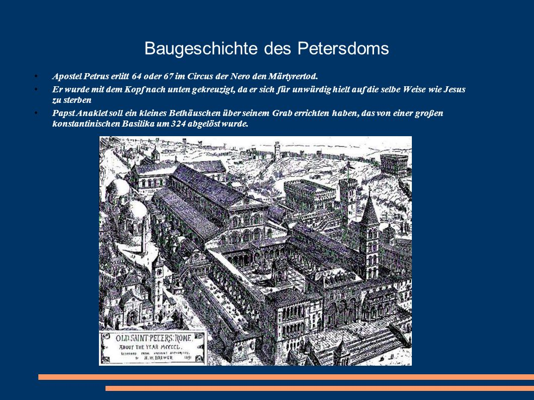 Baugeschichte des Petersdoms