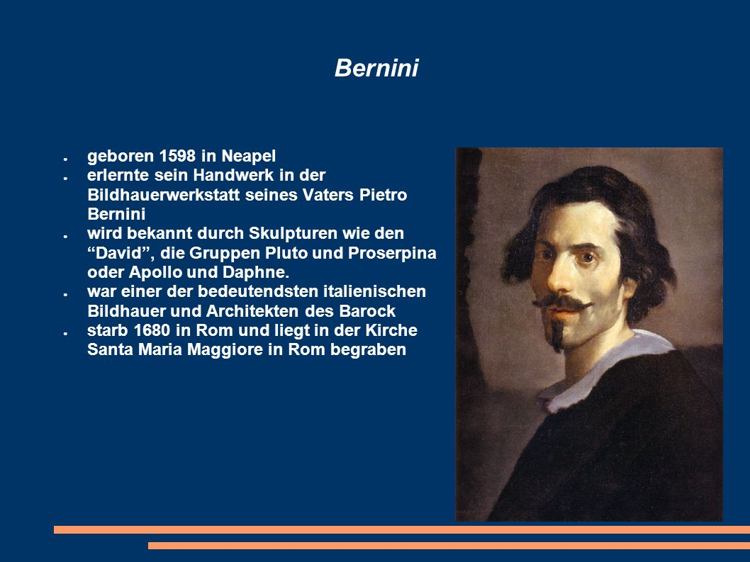 Bernini geboren 1598 in Neapel