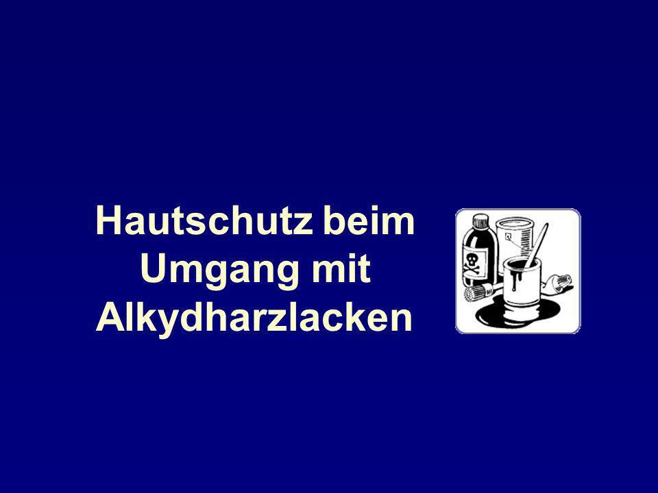 Hautschutz beim Umgang mit Alkydharzlacken