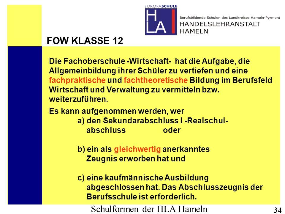 FOW KLASSE 12