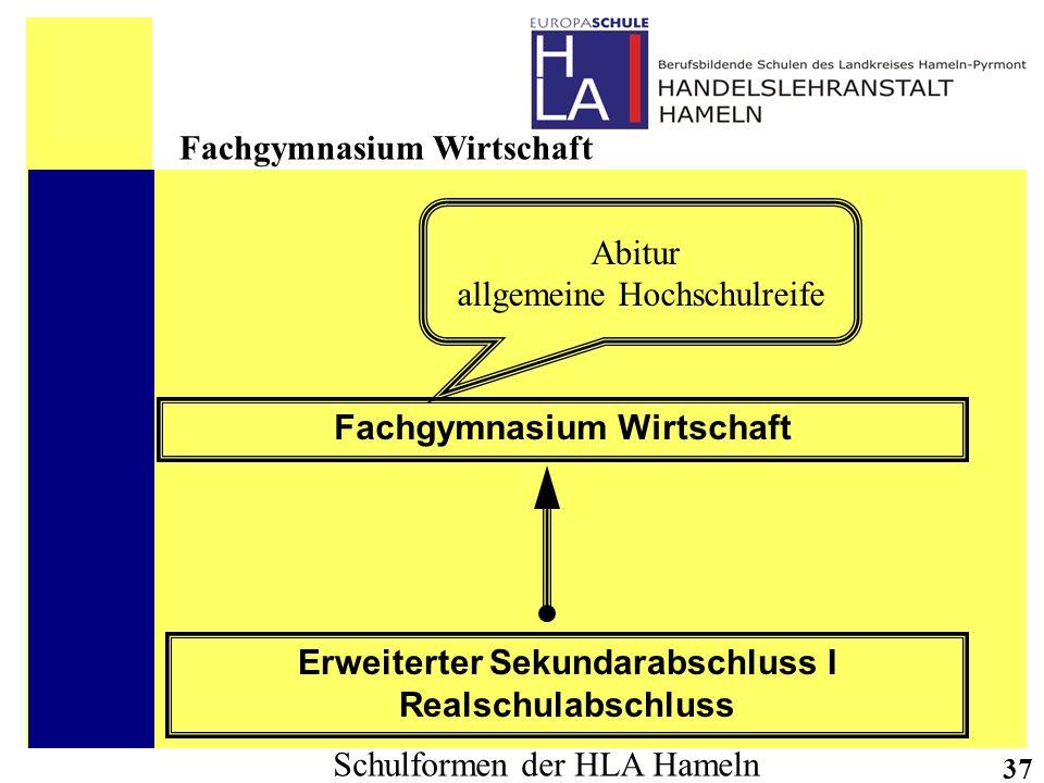 Fachgymnasium Wirtschaft Erweiterter Sekundarabschluss I