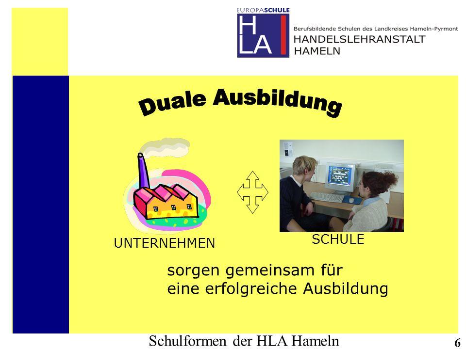 Duale Ausbildung sorgen gemeinsam für eine erfolgreiche Ausbildung