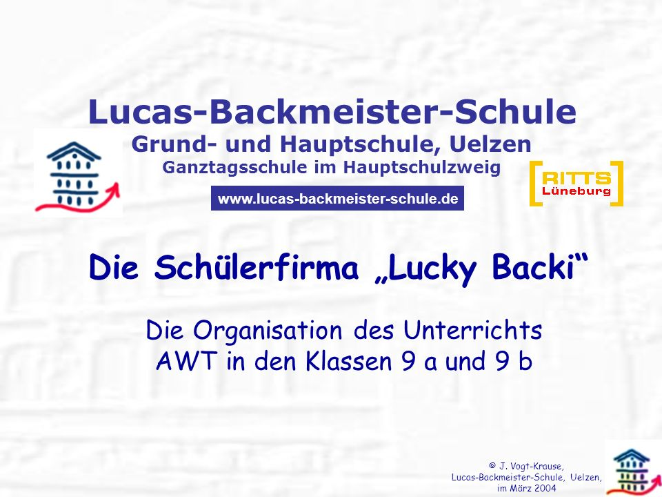"Die Schülerfirma ""Lucky Backi"