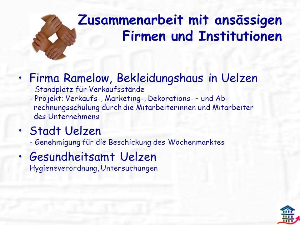 Zusammenarbeit mit ansässigen Firmen und Institutionen