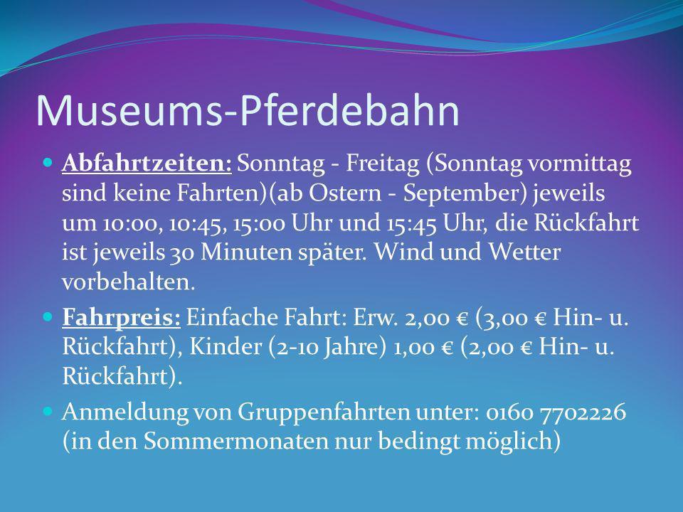 Museums-Pferdebahn