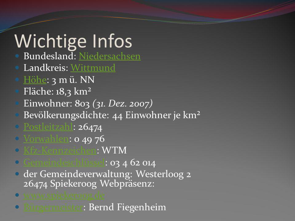 Wichtige Infos Bundesland: Niedersachsen Landkreis: Wittmund