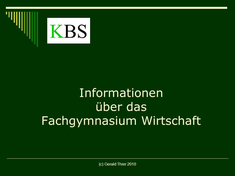 Informationen über das Fachgymnasium Wirtschaft