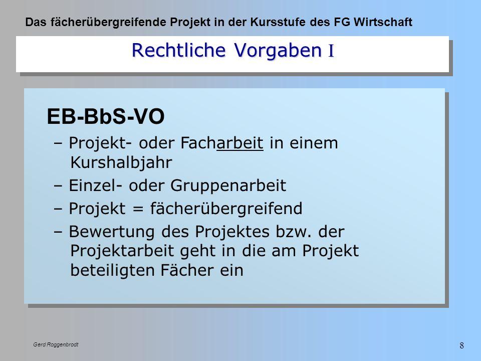 EB-BbS-VO Rechtliche Vorgaben I