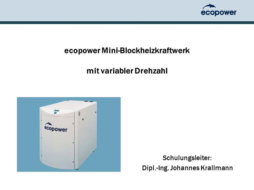 ecopower Mini-Blockheizkraftwerk mit variabler Drehzahl