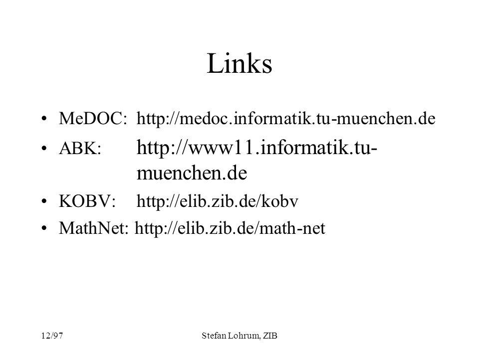 Links MeDOC: http://medoc.informatik.tu-muenchen.de