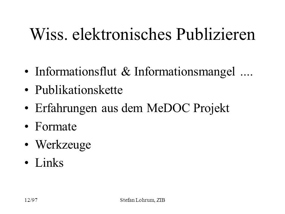 Wiss. elektronisches Publizieren