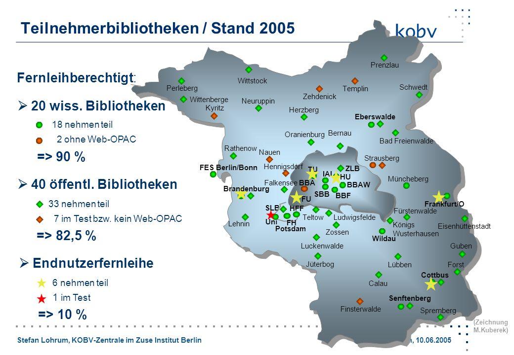 Teilnehmerbibliotheken / Stand 2005