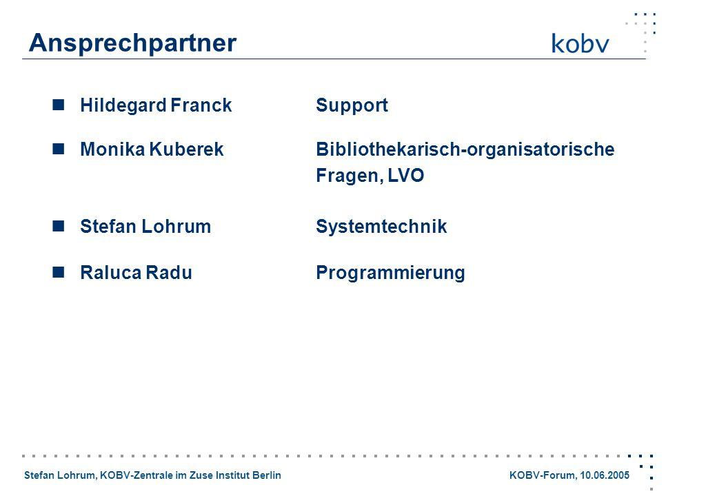 Ansprechpartner  Hildegard Franck Support