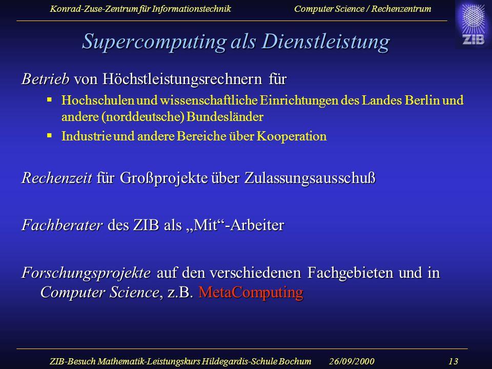 Supercomputing als Dienstleistung