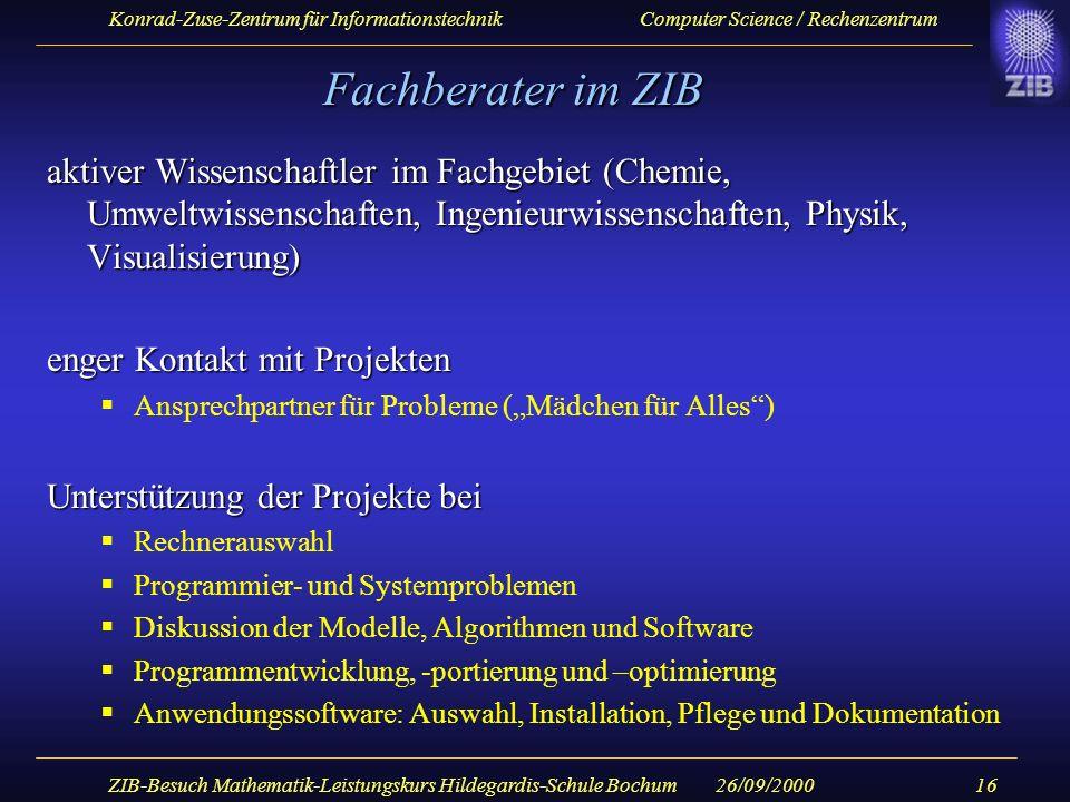 ZIB-Besuch Mathematik-Leistungskurs Hildegardis-Schule Bochum